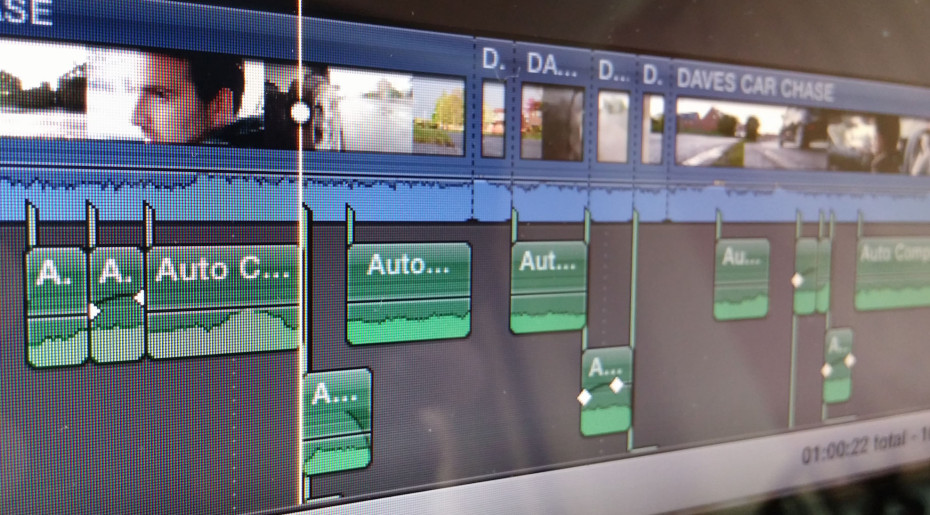 Editing timeline screen