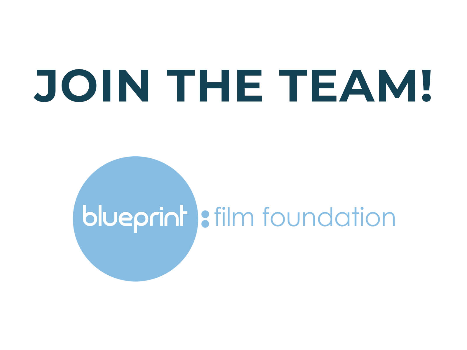Job Opportunity at Blueprint: Film Foundation